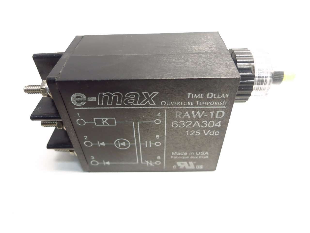 E Max 632a304 Raw 1d Time Delay 125v Dc Relay Ibs Electronics Electronic
