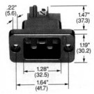 HUBBLE H320B Electrical Power Entry Connector Outlet