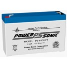Powersonic PS-6100F2 - 6 Volt/12 Amp Hour Sealed Lead Acid Battery